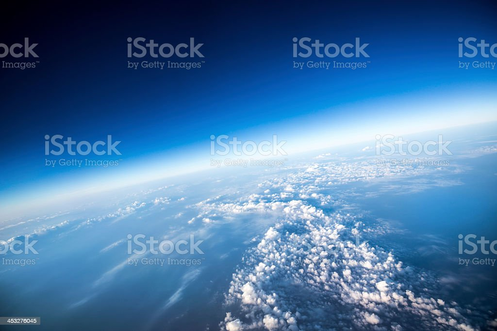 A high view of planet earth from space stock photo