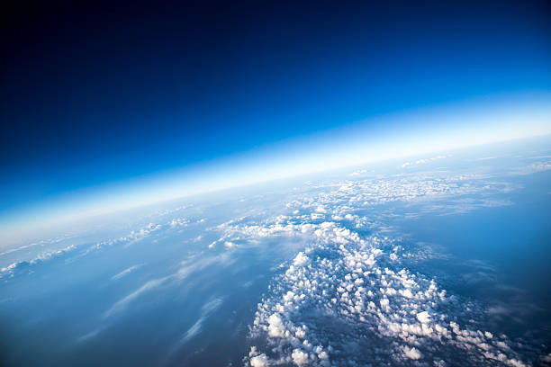 a high view of planet earth from space - stratosphere stock pictures, royalty-free photos & images