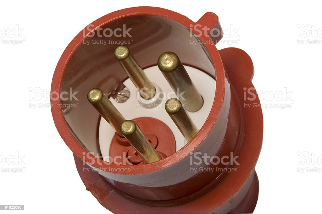 high voltage ac plug isolated royalty-free stock photo