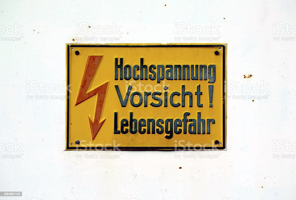 high voltage - danger for your life royalty-free stock photo