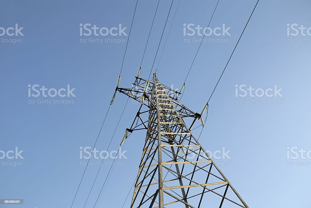 High voltage electric line royalty-free stock photo