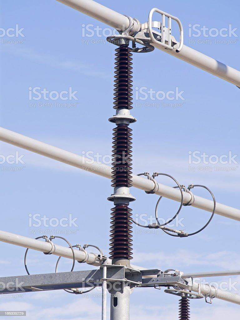 high voltage insulators royalty-free stock photo