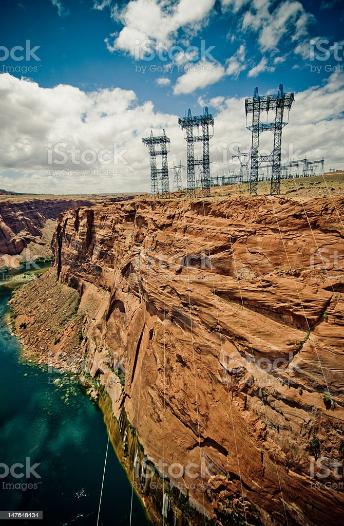 high voltage line royalty-free stock photo