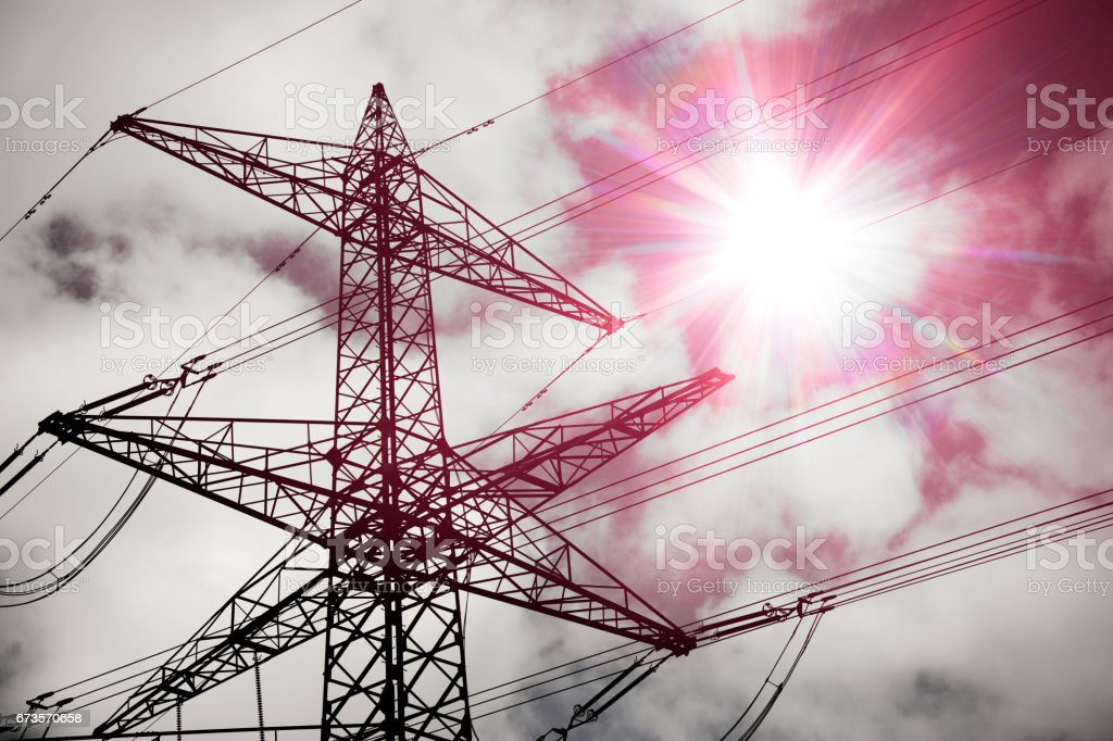 High Voltage Lines, electricity pylon royalty-free stock photo