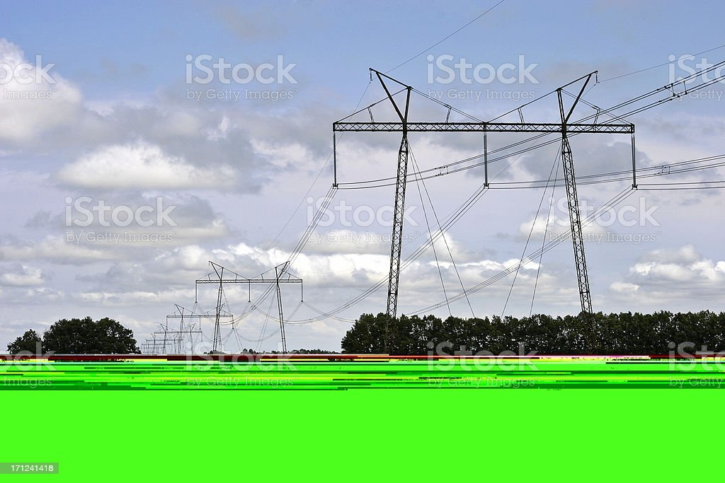High Voltage Lines #2 royalty-free stock photo