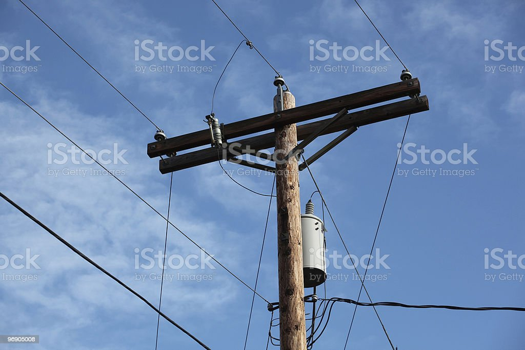 High voltage lines. royalty-free stock photo