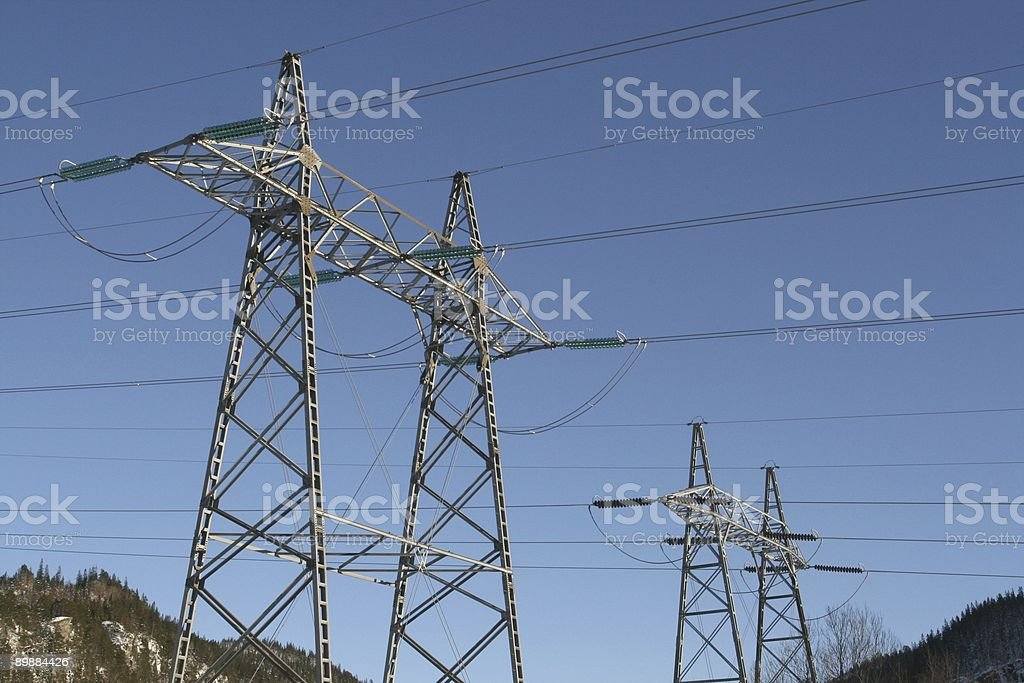 High voltage masts royalty-free stock photo