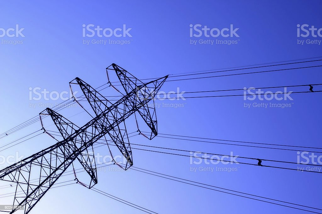 High Voltage royalty-free stock photo