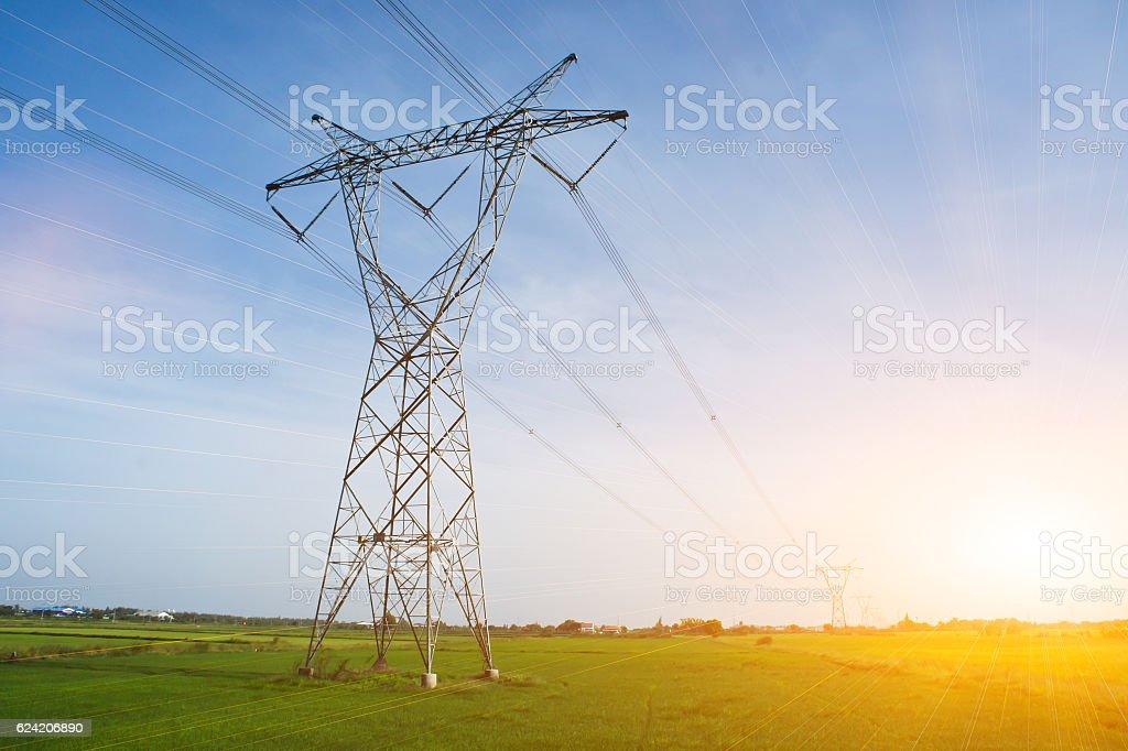 high voltage post, High-voltage tower – Foto