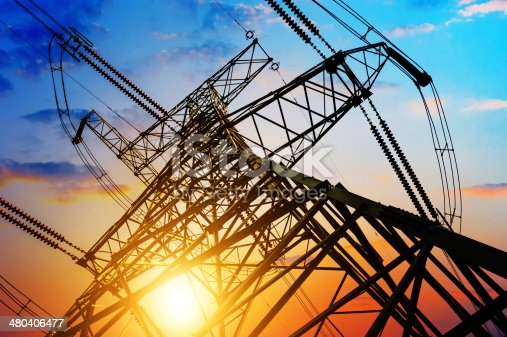istock high voltage post. 480406477