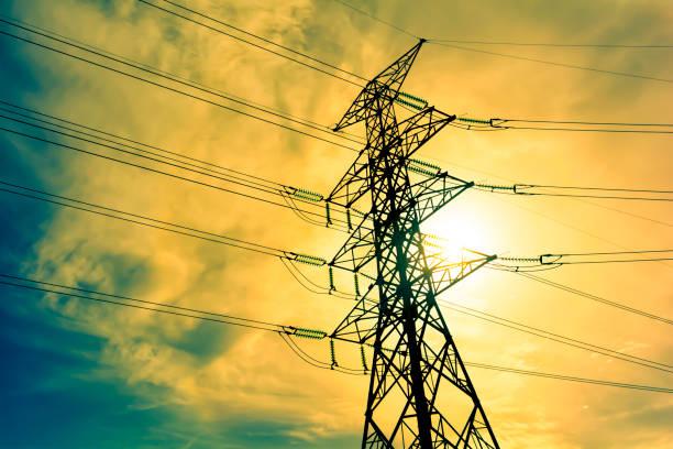 High voltage post. – Foto