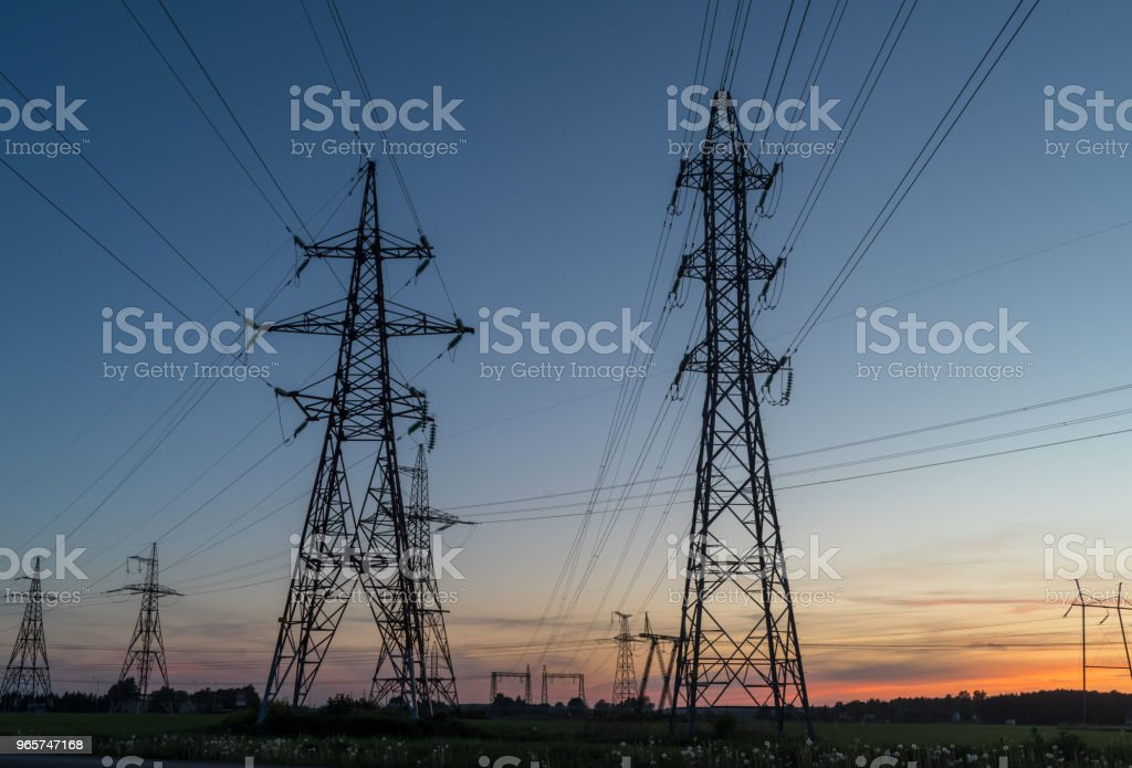High voltage post - Royalty-free Air Pollution Stock Photo