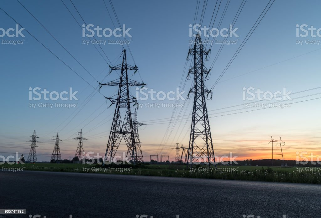 High voltage post - Royalty-free Authority Stock Photo