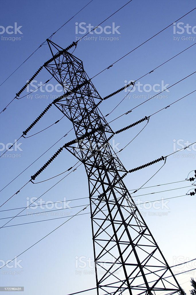 High Voltage Power Lines royalty-free stock photo