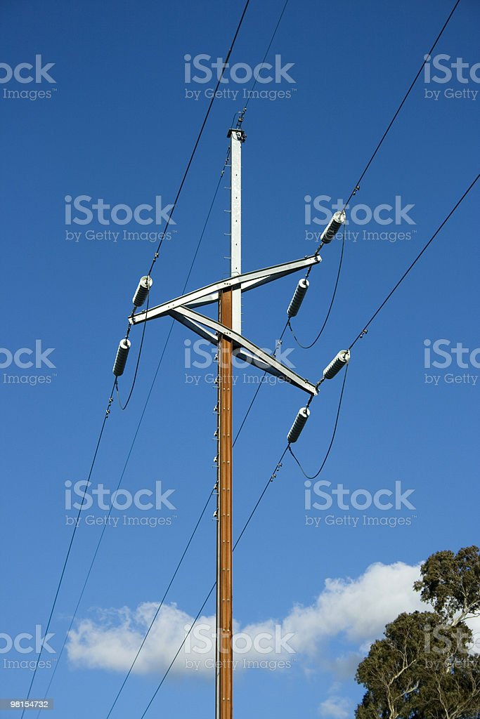 High Voltage Power Pole royalty-free stock photo
