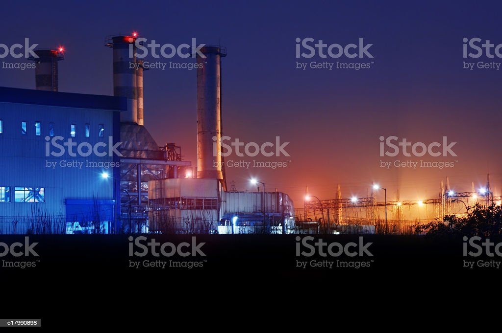 High Voltage Power Station stock photo