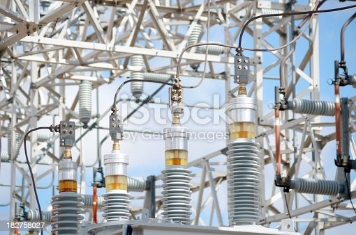 High voltage eguipment at an electricity generating station. Sony A850 full frame sensor