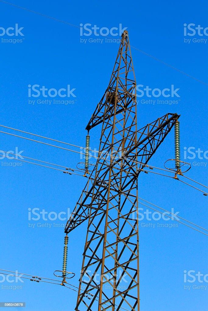 High voltage power tower Lizenzfreies stock-foto
