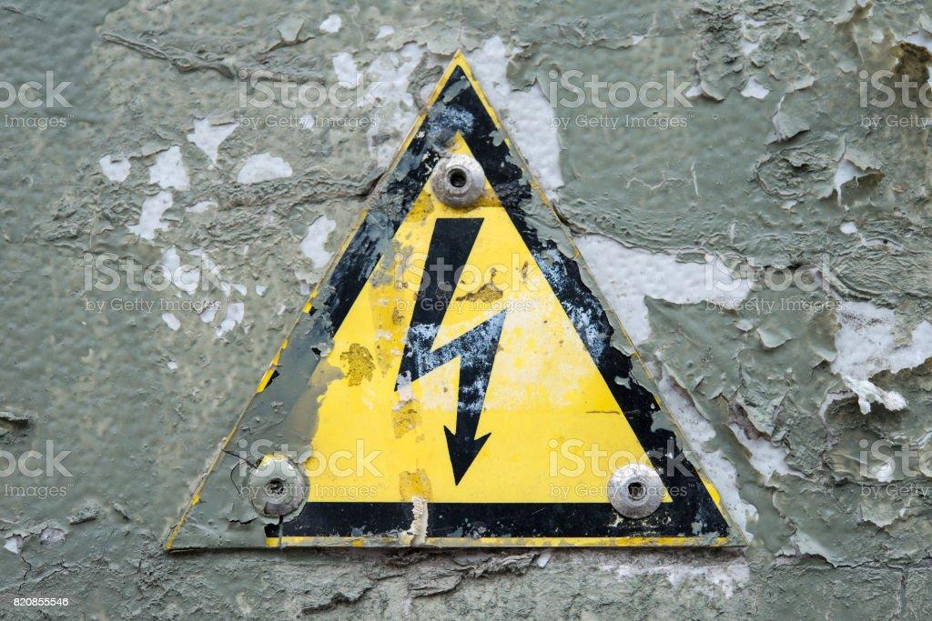 High voltage shock hazard stock photo