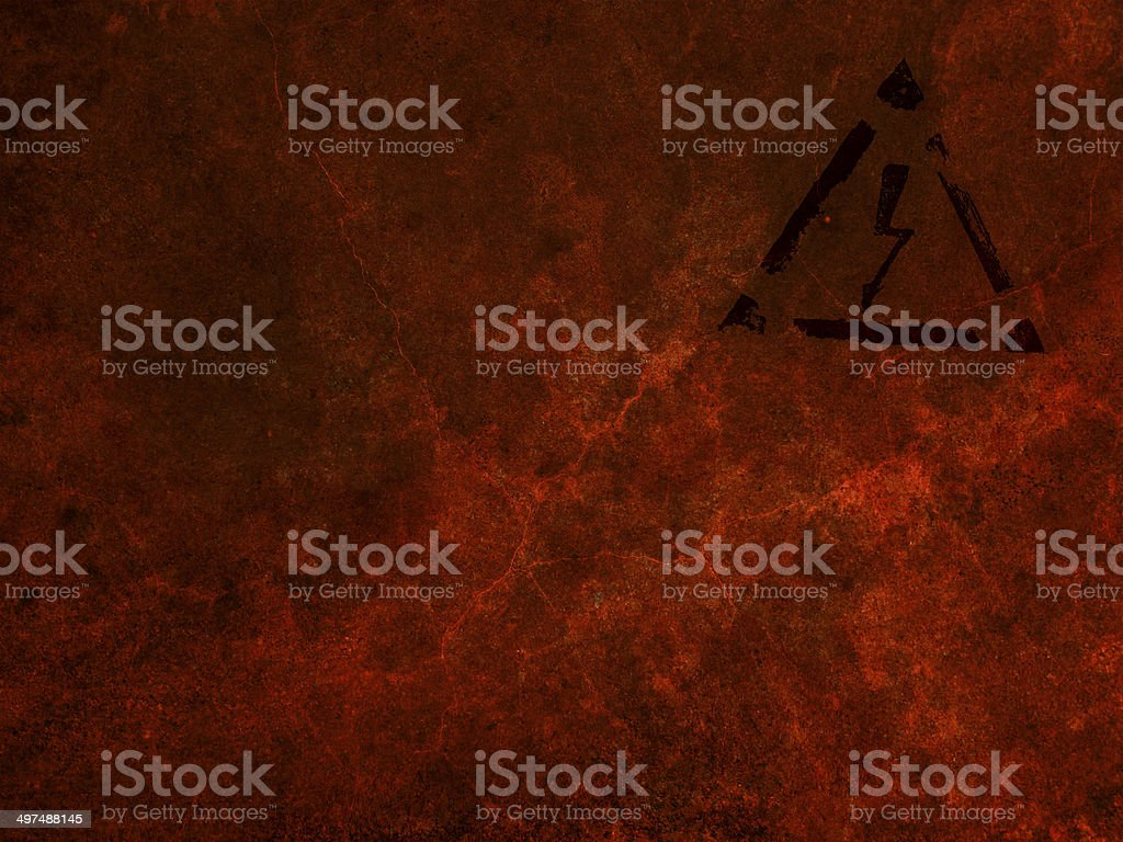 high voltage sign, grunge background royalty-free stock photo