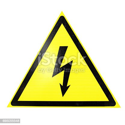 istock high voltage sign isolated on white 695055548