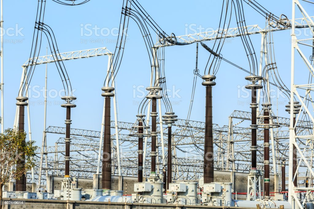 High Voltage Substation And Equipment Stock Photo - Download