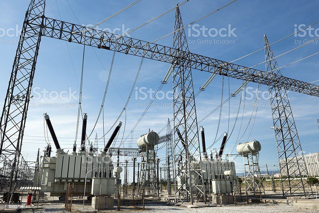 High voltage substation – Foto