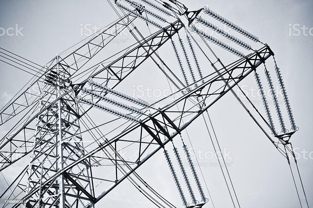 High voltage Tower - crop stock photo