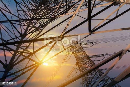 istock High voltage tower 501045711