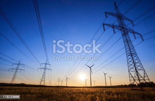 High Voltage Tower - sunset.