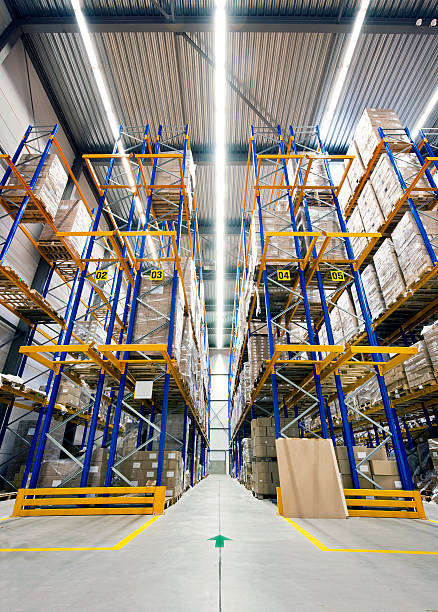 High warehouse stock photo