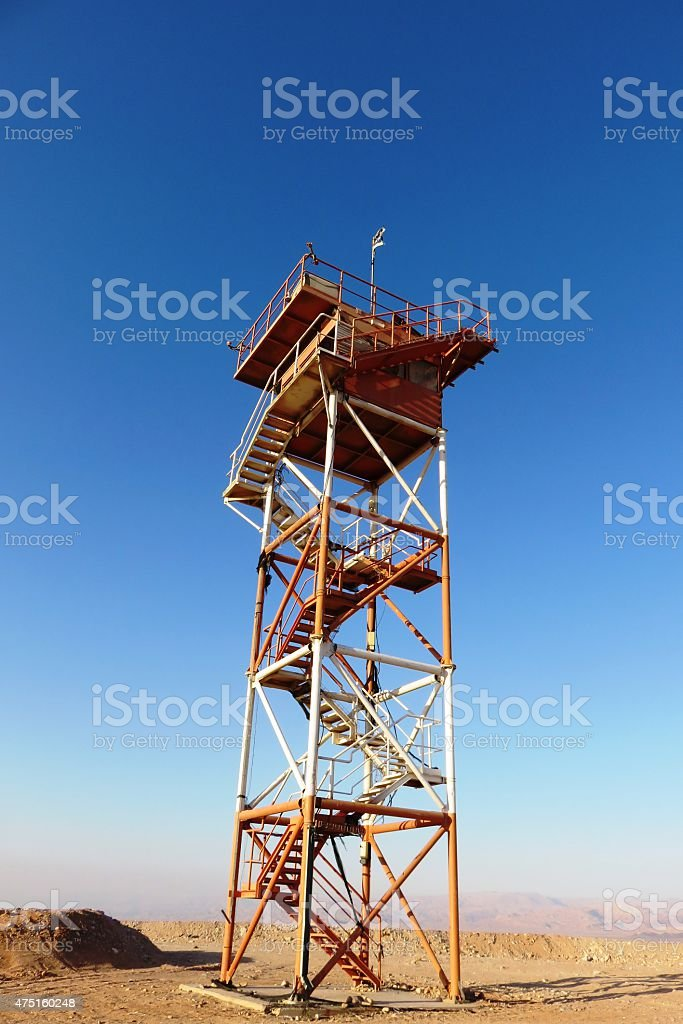 High watchtower stock photo