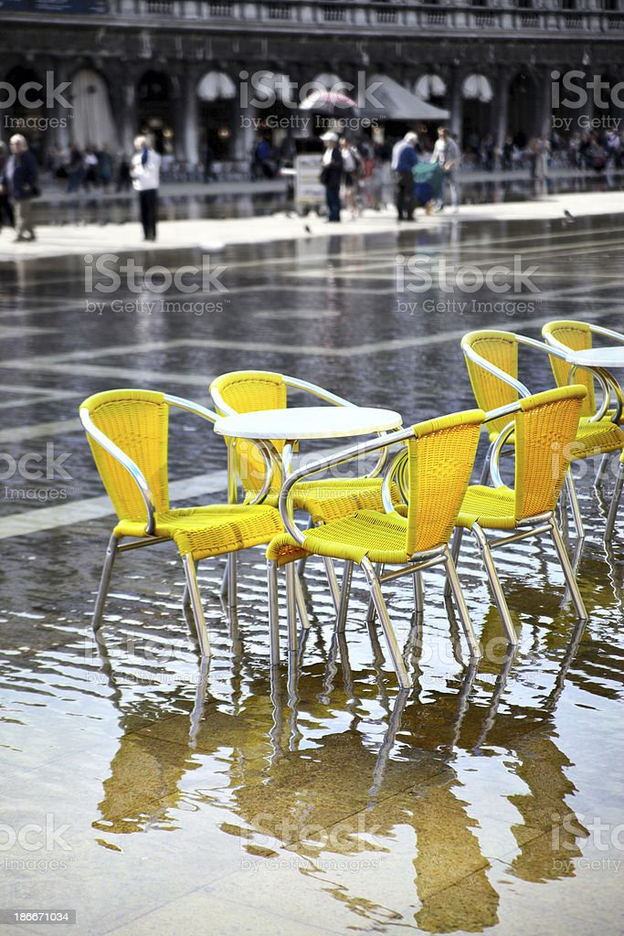 High water in Venice royalty-free stock photo