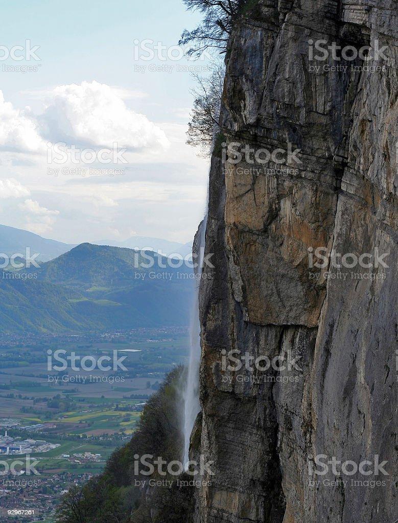 high waterfall royalty-free stock photo