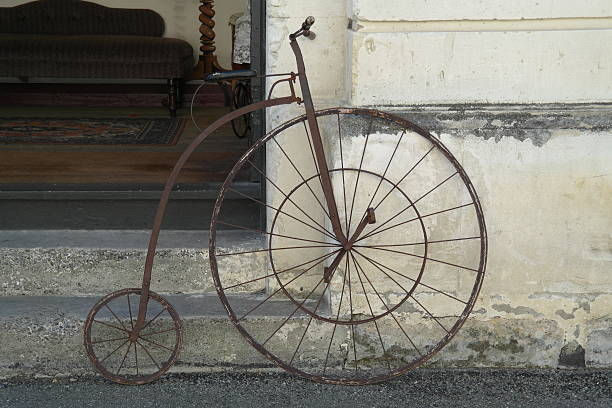High wheel bicycle stock photo