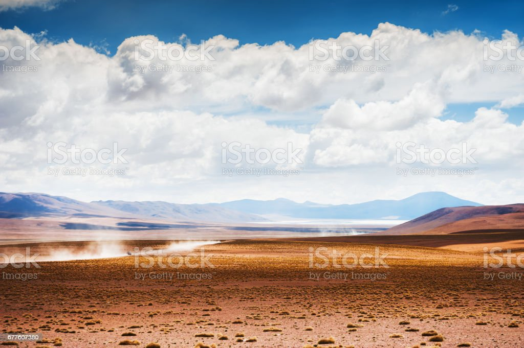 High-altitude landscapes on the plateau Altiplano, Bolivia royalty-free stock photo