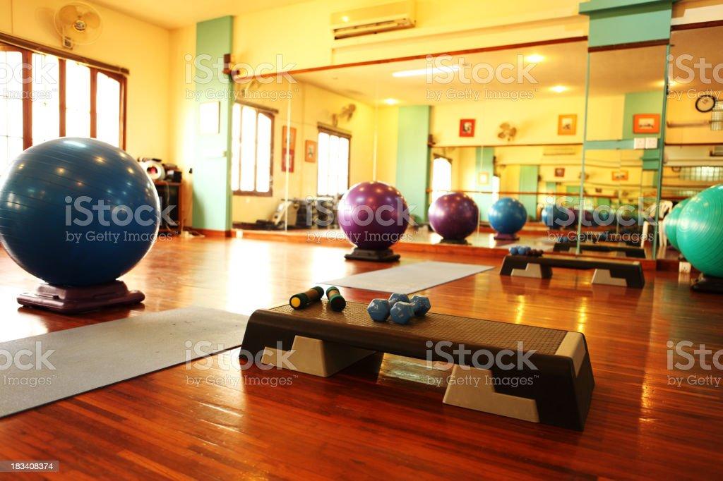 High-class Health Club and Aerobics Gym royalty-free stock photo