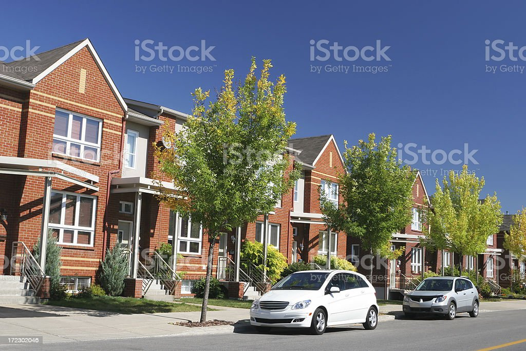 High-Class Neighborhood royalty-free stock photo