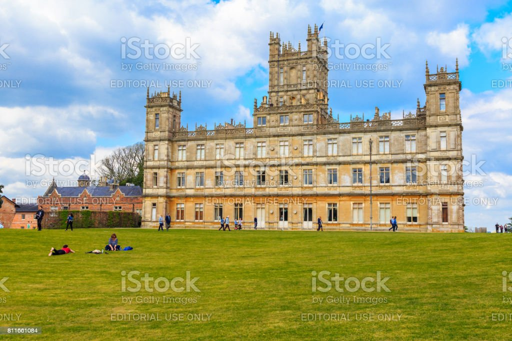 Highclere Castle, Hampshire, UK stock photo