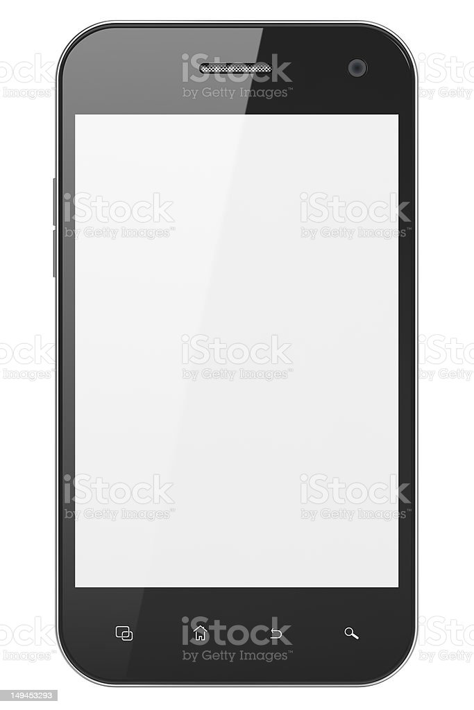 High-detailed smartphone isolated over white background. royalty-free stock photo