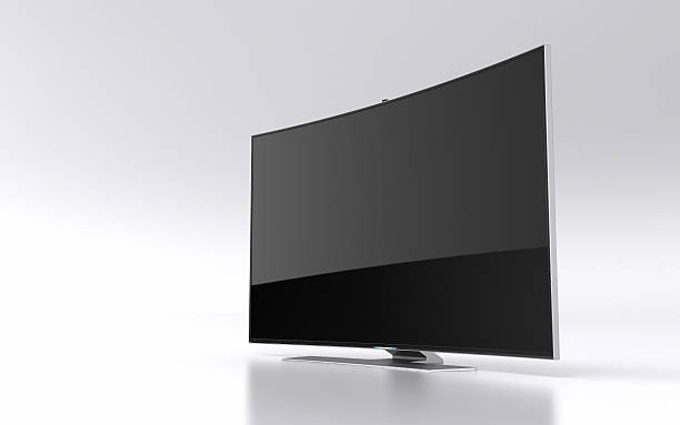 High-end curved smart led tv High-end curved smart led tv in 3D janulla stock pictures, royalty-free photos & images