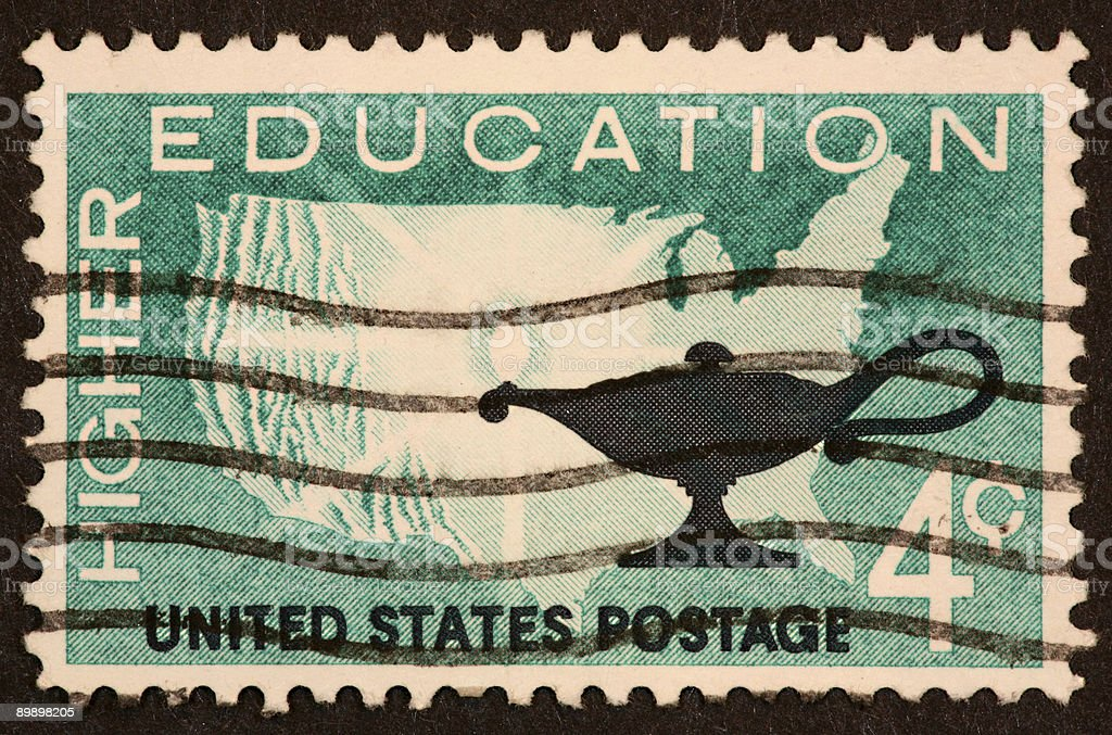 Higher Education stamp royalty-free stock photo