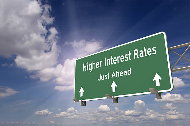 higher interest rates ahead concept - interest rate stock photos and pictures