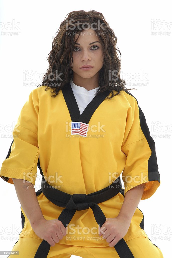 Higher level martial arts student royalty-free stock photo