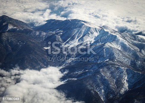 Higher than a mountain at 30,000 feet over the desert Southwest