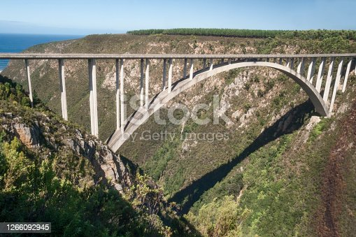 Face Adrenalin Bungy Jumping, highest bungy in the world, 216 meters tall, Boukrans Bridge, Plettenberg Bay, Garden Route, South Africa