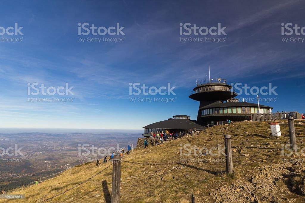 Najwyższe hill Republika Czeska-Śnieżka – zdjęcie