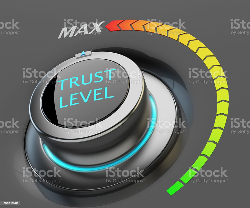 Highest level of trust concept stock photo