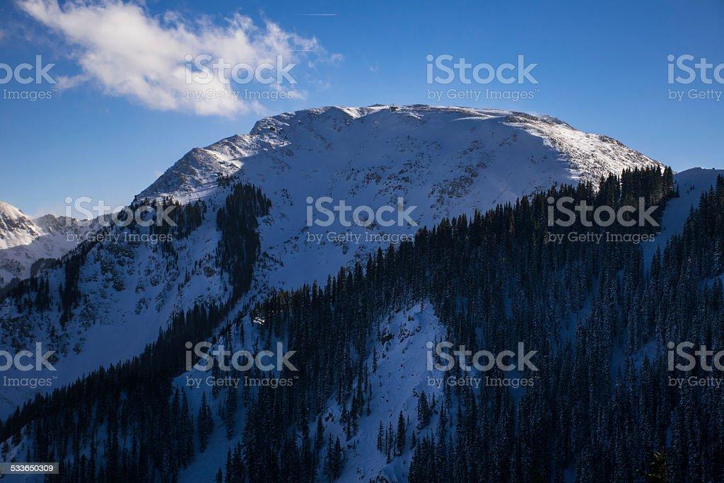 Highest Lift in America Kachina Peak Taos Ski Valley stock photo