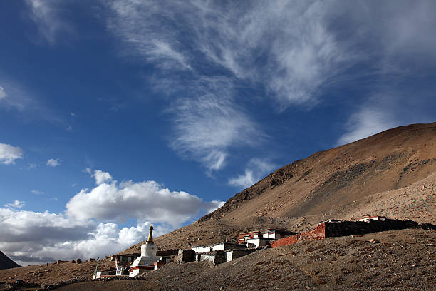 Highest Monastery on the earth stock photo